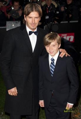 Дэвид и старший сын Бруклин