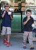 Круз и Ромео Бэкхемы за поеданием мороженого